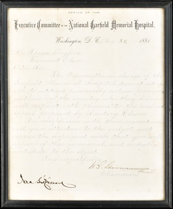 19: SHERMAN, William Tecumseh (1820-1891). Autograph Le