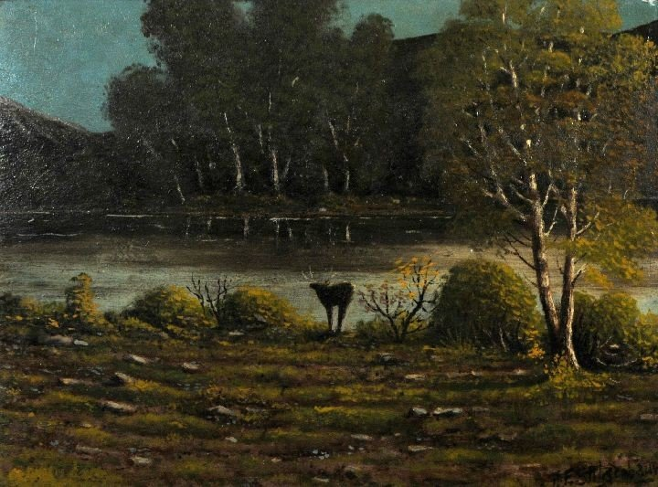 3: Artist Unknown (20th Century) River and Landscape wi