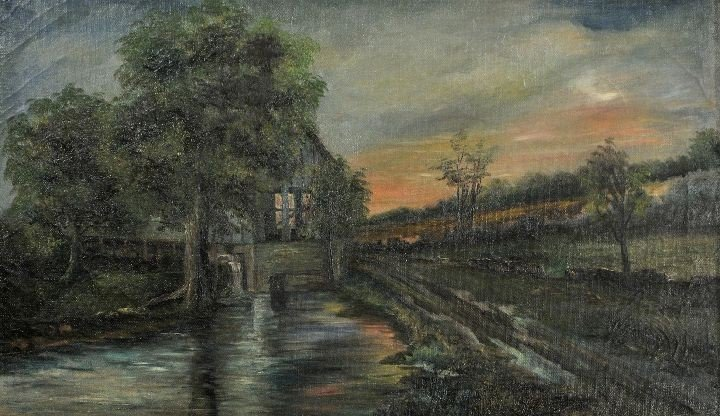 4: American School (19th Century) Landscape with River,