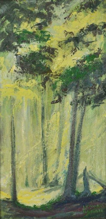 9: Lenore Beran (b. 1925) Forest Scene, Oil on canvas.