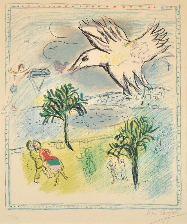 26: Marc Chagall (1887-1985) Le Grande Corniche, Lithog