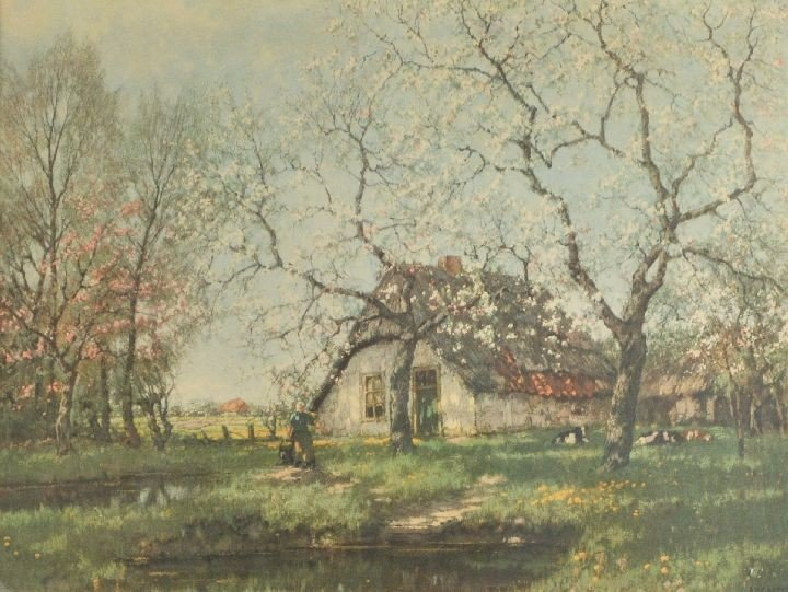 62: After A. M. Gorter (20th Century) Cottage Scene, Ch