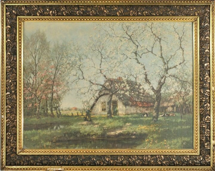 62: After A. M. Gorter (20th Century) Cottage Scene, Ch - 2