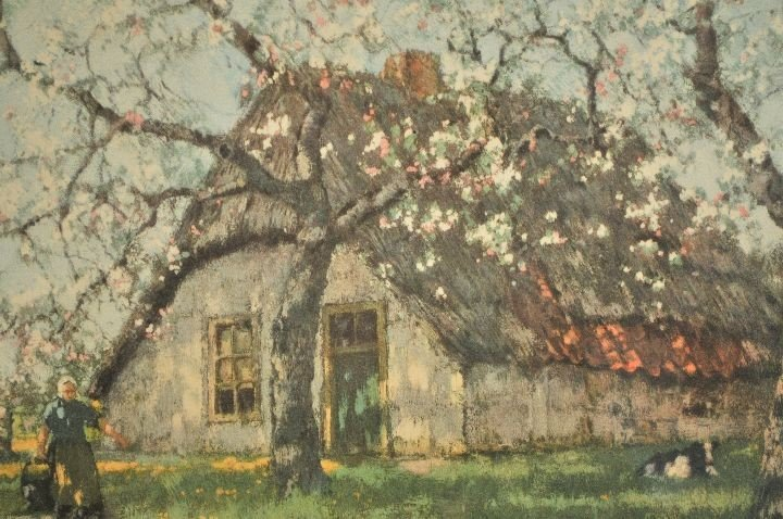 62: After A. M. Gorter (20th Century) Cottage Scene, Ch - 3