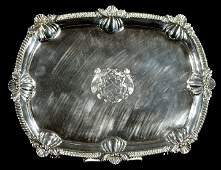 201: An English George III Silver Tray, London 1908,