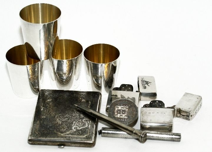 244: A Group of Sterling Silver Articles Comprising of