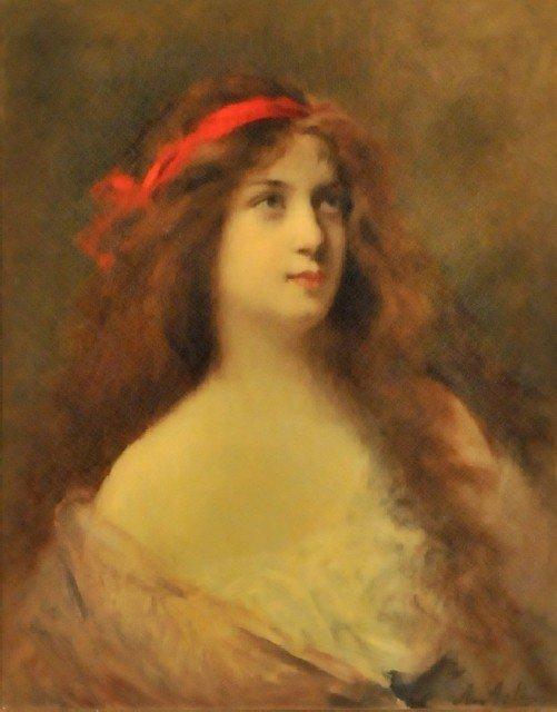 1: Angelo Asti (1847-1903) Portrait of a Lady