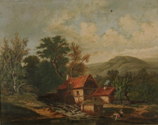 2: Adolph Schult (ca.1877) Upstate New York Landscape
