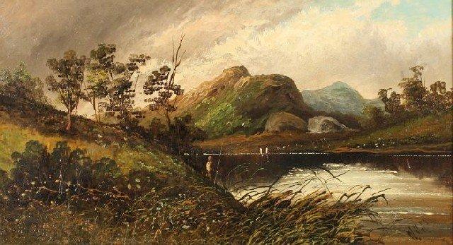 2A: W. Hall (English, 19th Century) Landscape