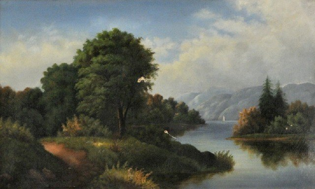3: Hudson River School (19th Century) River Landscape