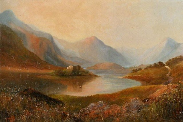 4: F. Webb (English, 20th Century) Loch Katrine