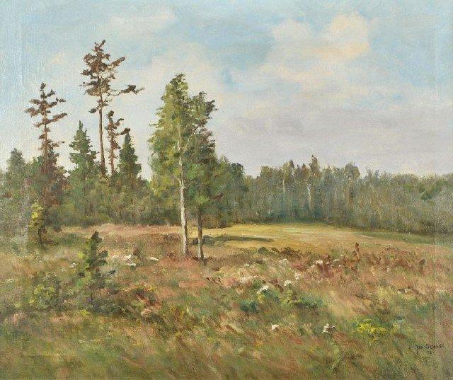 7: Jan Sklenar (20th Century) Landscape, Oil on canvas.
