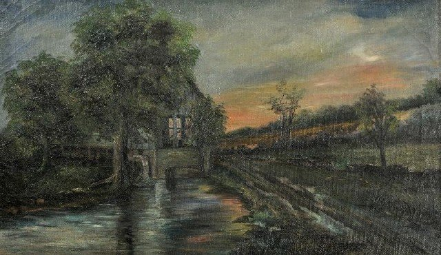 9: American School (19th Century) Landscape with River