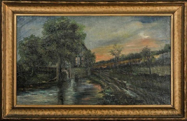 9: American School (19th Century) Landscape with River - 2