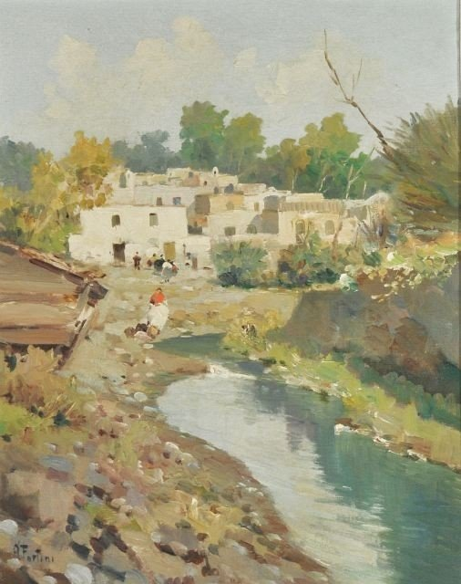 14: Andrea Fortini (Italian, 1902-1977) Village Scene