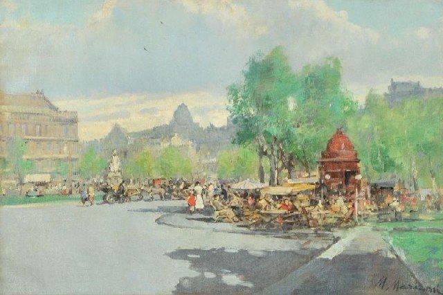 15: Marius Mariani (20th Century) Rue Noruins Paris