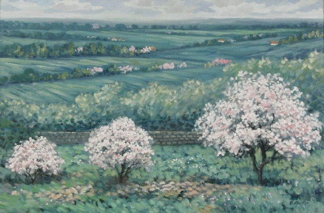 19: R. Owen (b.1951) A View from the Hill