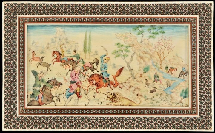 207A: A Persian Miniature Painting on Ivory - 2