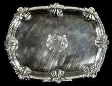 257: An English George III Silver Tray, London 1908