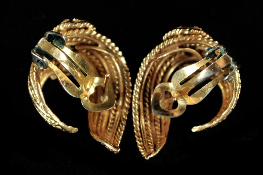 287: A Pair of 14 kt. Yellow Gold Earrings - 2