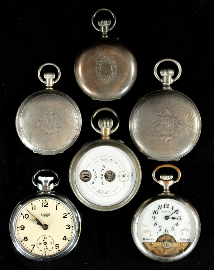 298: A Group of Six Silver Pocket Watches