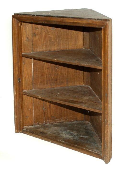 310: An American Pine Corner Cupboard, 19th Century. - 2