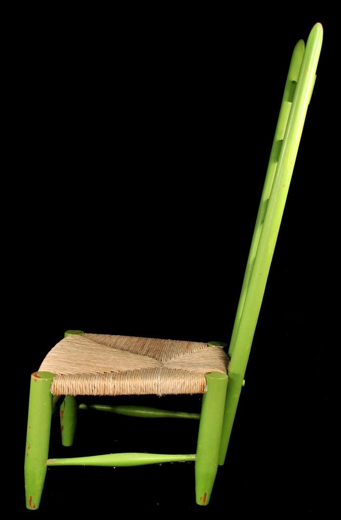 329: A Gio Ponti Style Ladderback Chair with Rush Seat - 5