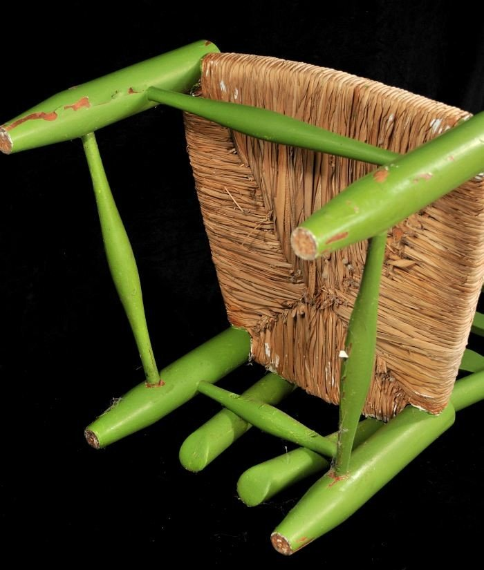 329: A Gio Ponti Style Ladderback Chair with Rush Seat - 7