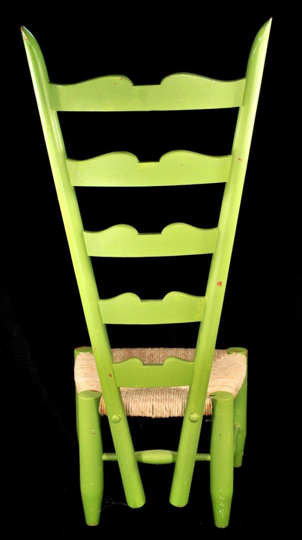 329: A Gio Ponti Style Ladderback Chair with Rush Seat - 8