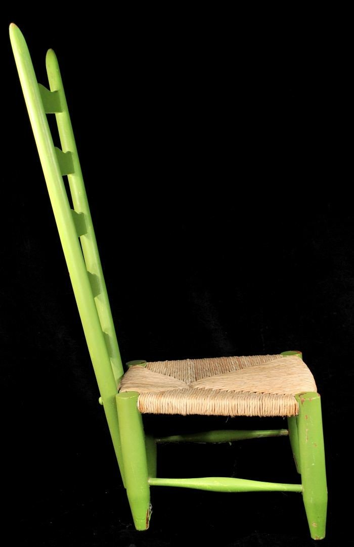 329: A Gio Ponti Style Ladderback Chair with Rush Seat - 9