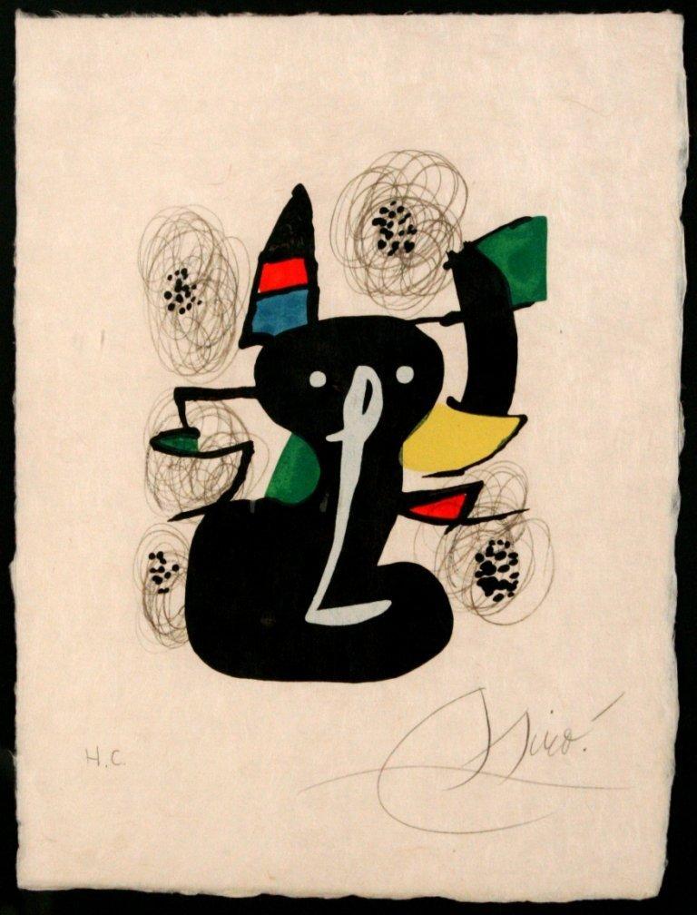 18: Joan Miro (1893-1983) La Melodie Acide # 3, 1980, C