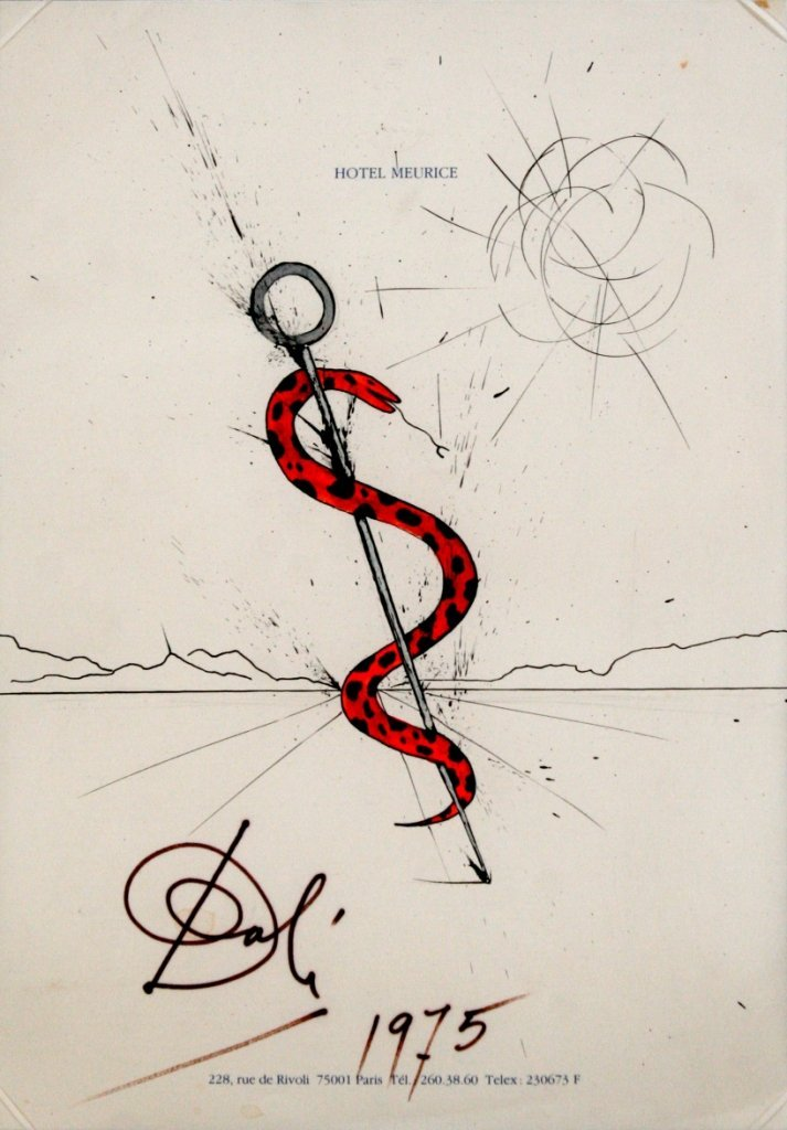 22: Salvador Dali (1904-1989) Snake in Landscape, 1975,
