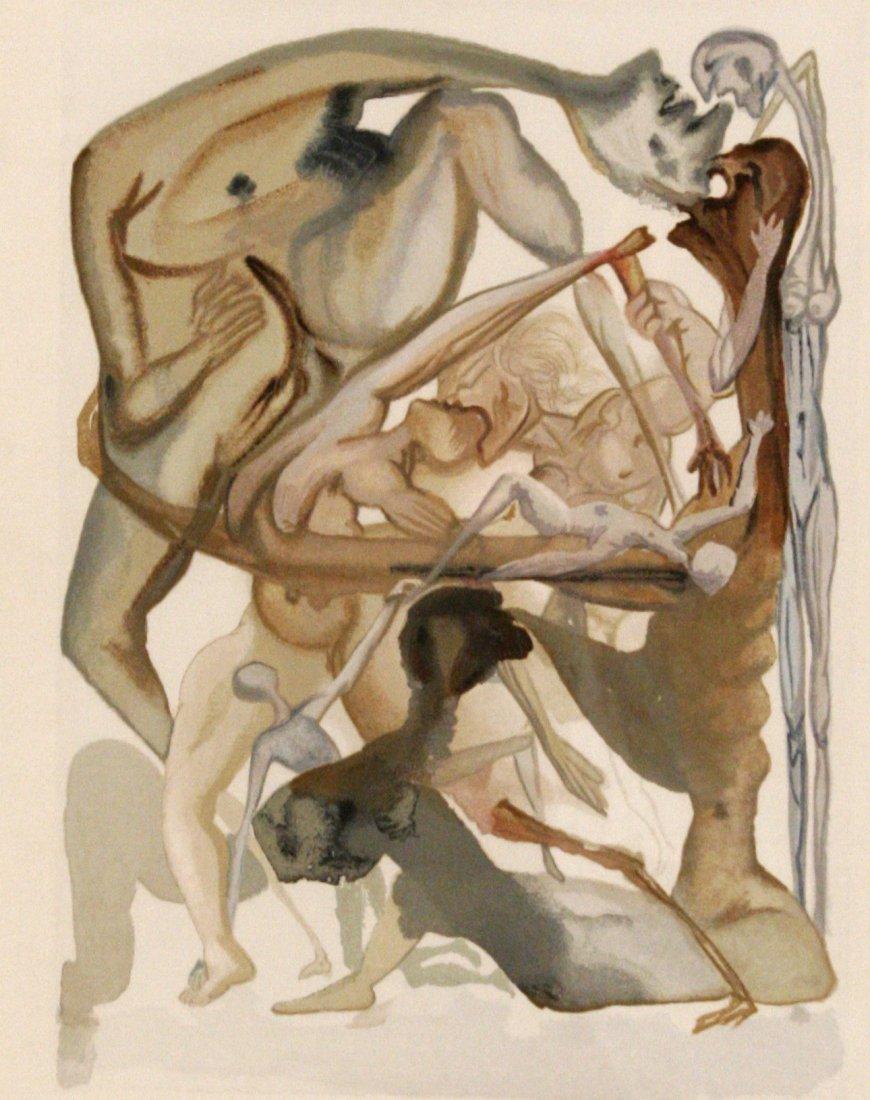 23: Salvador Dali (1904-1989) In Dark Limbo, 1964, Wood