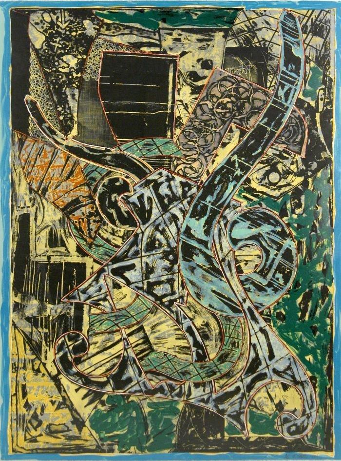 24: Frank Stella (b.1936) Yellow Journal, 1982, Offset