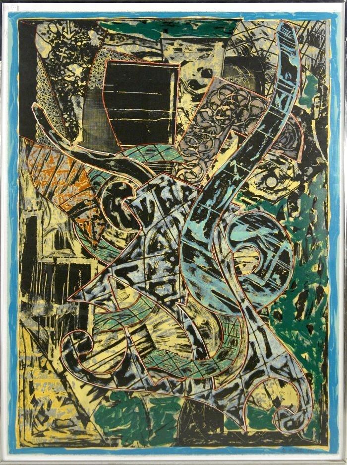 24: Frank Stella (b.1936) Yellow Journal, 1982, Offset  - 2