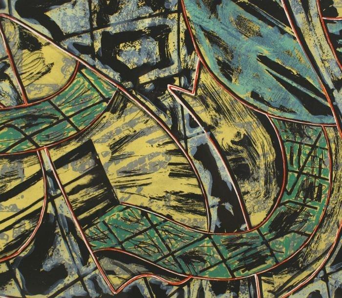 24: Frank Stella (b.1936) Yellow Journal, 1982, Offset  - 6
