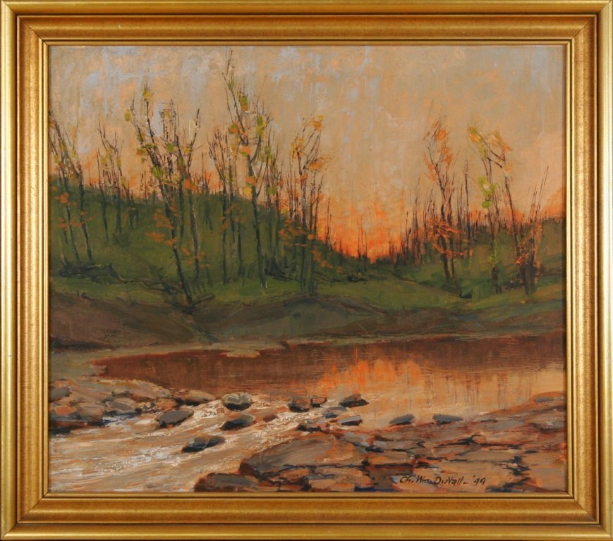 40: Charles William Duvall (1865-1966) Sunset with Stre - 2