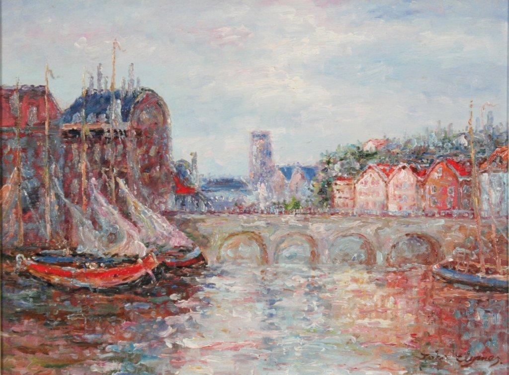 50: Jonathan Clymer (20th Century) Harbor Impressions,