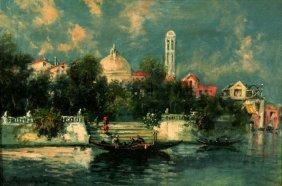 Umberto Gianni (19th-20th Century) Venetian Canal S