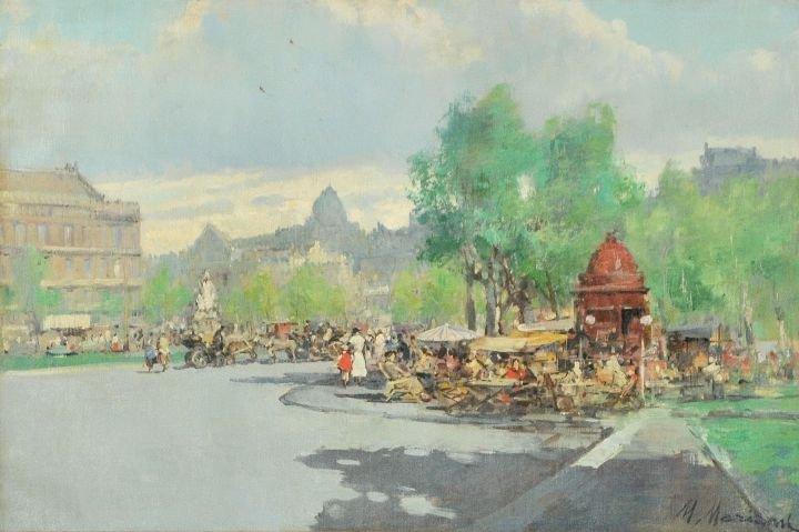 54: Marius Mariani (20th Century) Rue Noruins Paris, Oi