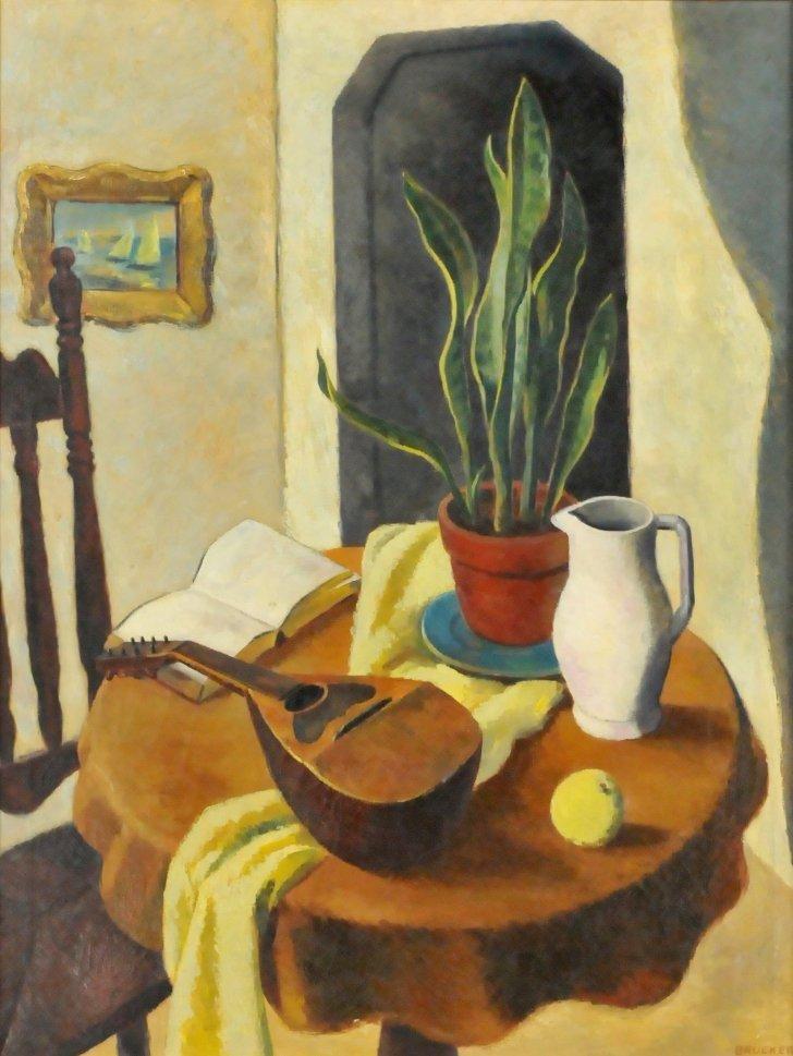 66: Edmund Brucker (1912-1999) Still Life, Oil on canva