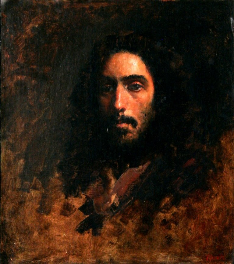 67: Gregg Kreutz (b.1947) Portrait of a Man, Oil on lin