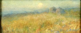 E. K. Hunt (20th Century) Landscape, Pastel On Pape