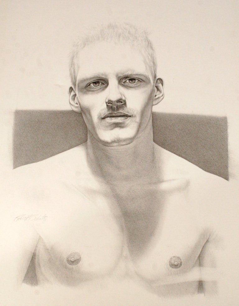 85: Robert Schultz (b. 1953) Portrait of a Man, Graphit