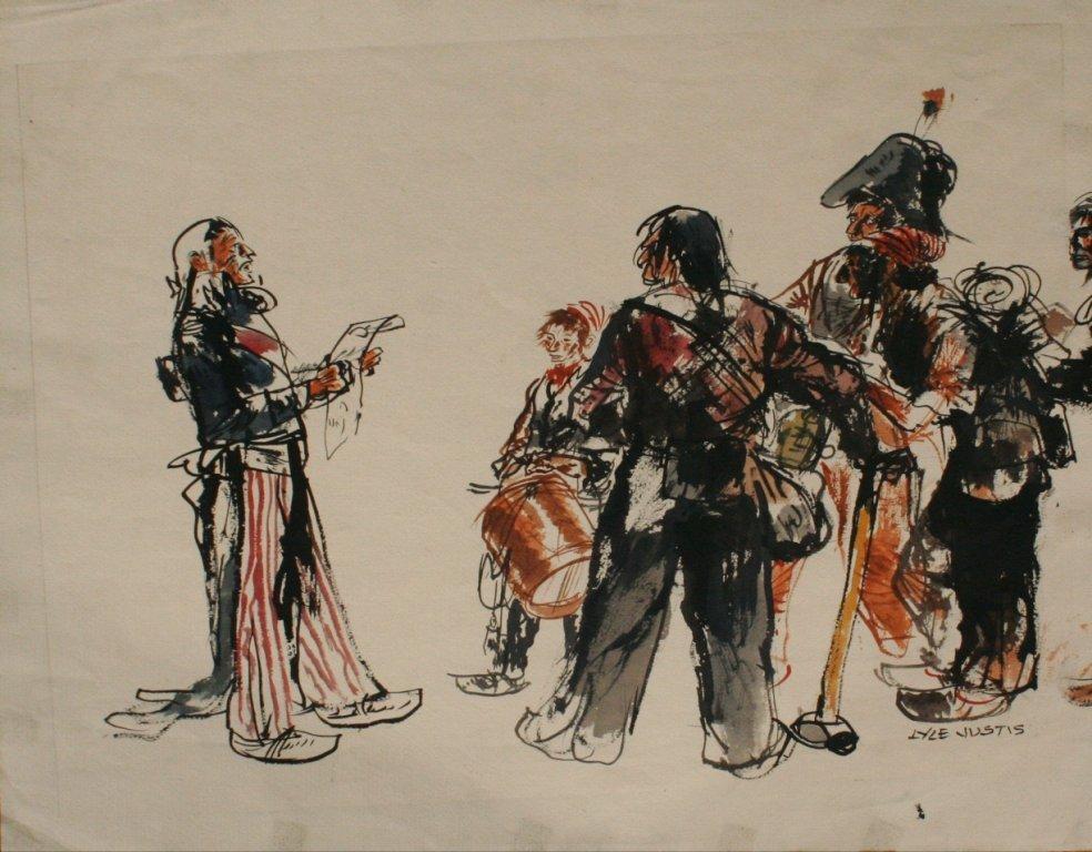 87: Lyle Justis (1892-1960) Untitled Illustration, Ink