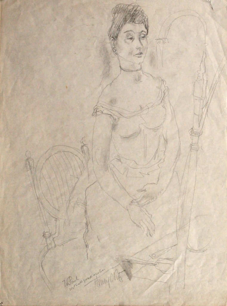 91: Henry Clarence Pitz (1895-1976) Figural Study, Penc