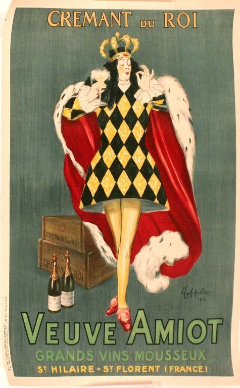 100: A Cremant Du Roi by Leonetto Cappiello Advertiseme