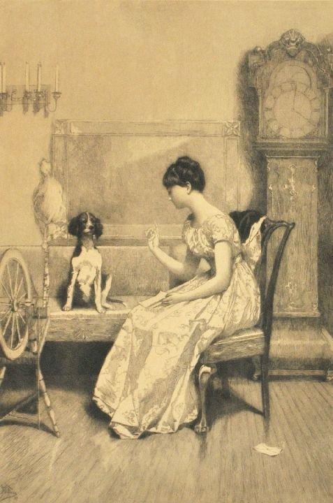 103: Jean Leon Gerome Ferris (1863-1930) Interior Scene
