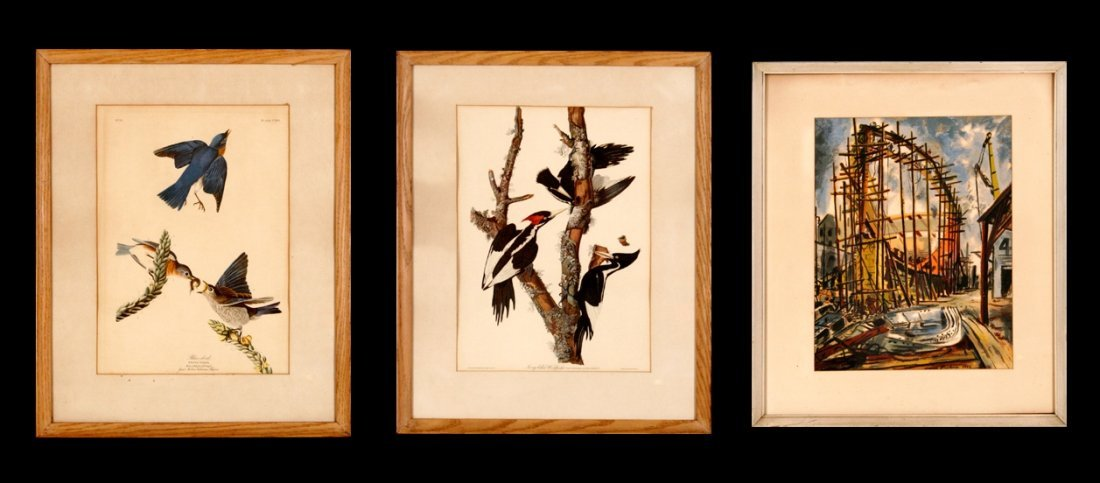 112: A Group of Three Framed Decorative Prints,