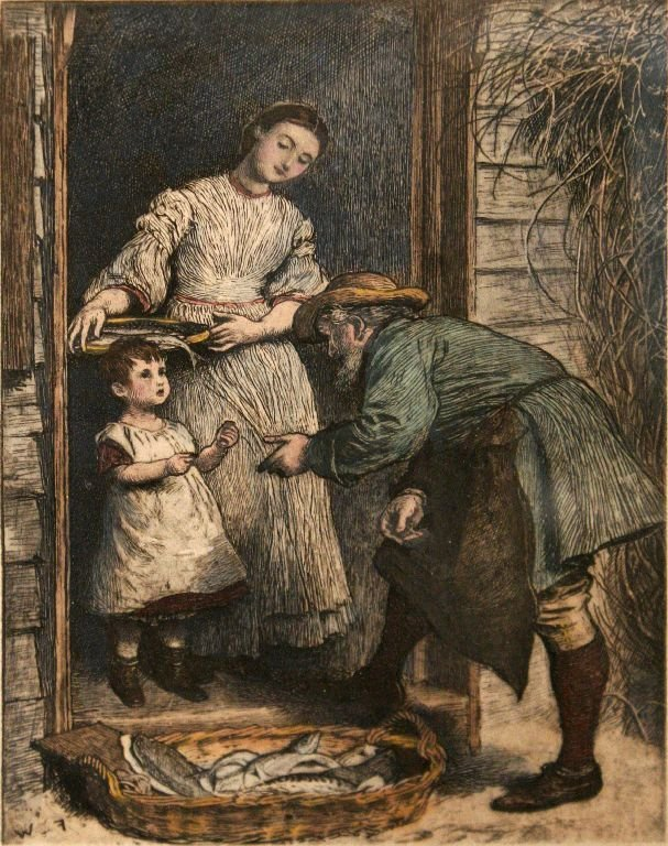 114A: Artist Unknown (19th Century) Fishmongers, Hand c